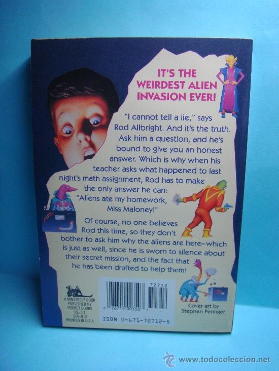 Libros: Aliens ate my homework. Bruce Coville. 1993. A Minstrel Book. Libro en inglés. - Foto 2 - 32912558