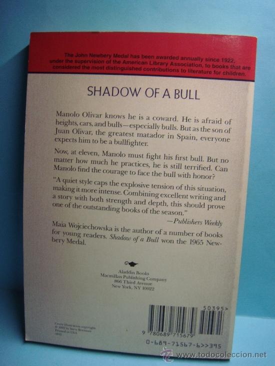 Libros: Libro. Shadow of a Bull. Maia Wojciechowska. Libro en Inglés. Ganador Newbery Medal. 1992 - Foto 2 - 32912985
