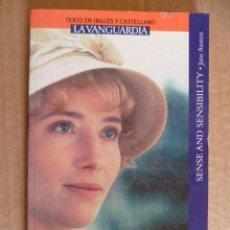 Libros: SENTIDO Y SENSIBILIDAD (SENSE AND SENSIBILITY) POR JANE AUSTEN (TEXTO EN INGLÉS Y CASTELLANO) . Lote 33679331