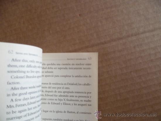 Libros: SENTIDO Y SENSIBILIDAD (SENSE AND SENSIBILITY) POR JANE AUSTEN (TEXTO EN INGLÉS Y CASTELLANO) - Foto 2 - 33679331