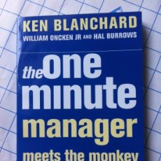Libros: THE ONE MINUTE MANAGER, KENNETH H. BLANCHARD . Lote 36864556