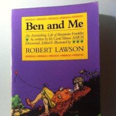 Livros: LIBRO EN INGLÉS. BEN AND ME. ROBERT LAWSON. LA VIDA DE BENJAMIN FRANKLIN. 1988. Lote 38670802