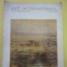 Libros: ART INTERNATIONAL. JAMES FITZSIMMONS. Lote 40066383