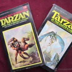 Libros: DOS TOMOS DE TARZAN DE EDGAR RICE BURROUGHS EN INGLES. PORTADAS DE BORIS VALLEJO. AÑOS 80. Lote 43411290