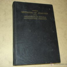 Libros: OFFICIAL METHODS OF ANALYSIS OF THE ASSOCIATION DE OFFICIAL AGRICULTURAL CHEMISTS. Lote 46360037