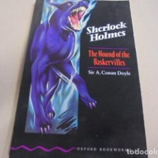 Libros: HOUND OF THE BASKERVILLES - DOYLE - OXFORD NIVEL 4 - ILUSTRADO - APRENDER INGLES. Lote 66949414