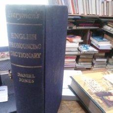 Libros: ENGLISH PRONOUNCING DICTIONARY, DANIEL JONES, EVERYMAN'S.. Lote 110476363