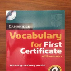 Libros: VOCABULARY FOR FIRST FCE. Lote 115403738