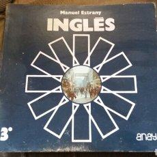 Libros: LIBRO INGLÉS 3°ANAYA MANUEL ESTRANY AÑO 1985 LIBRERIA ANTIGUA. Lote 118143110