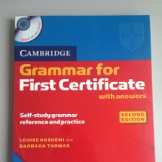 Libros: GRAMMAR FOR FIRST. Lote 115405424