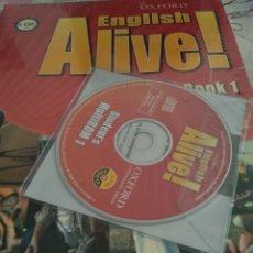 Libros: ENGLISH ALIVE! BOOK 1 +CD OXFORD. Lote 128125934