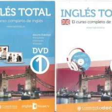 Libros: INGLÉS TOTAL 1 (3 NIVELES) LIBRO + CD + DVD. Lote 148690174