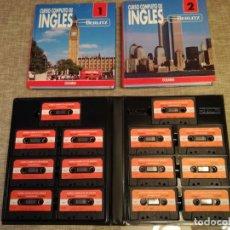 Libros: CURSO COMPLETO INGLES BERLITZ LIBROS + CASSETTES. Lote 152874890