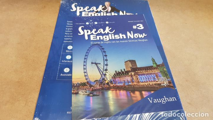 Libros: SPEAK ENGLISH NOW BY VAUGHAN / Nº 3 / LIBRO + CD & MP3 / LAS NUEVAS TÉCNICAS VAUGHAN / PRECINTADO. - Foto 2 - 160605414