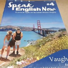 Libros: SPEAK ENGLISH NOW BY VAUGHAN / Nº 4 / LIBRO + CD & MP3 / LAS NUEVAS TÉCNICAS VAUGHAN / PRECINTADO.. Lote 160605510