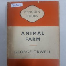 Livres: 21014 - ANIMAL FARM - POR GEORGE ORWELL - Nº 838 - AÑO 1957 - EN INGLES. Lote 168421132