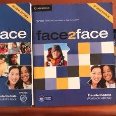 Libros: FACE2FACE PRE-INTERMEDIATE - CAMBRIDGE. Lote 169411086