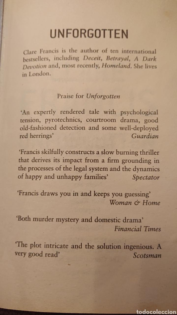 Libros: Clare Francis Unforgotten - Foto 2 - 179150486