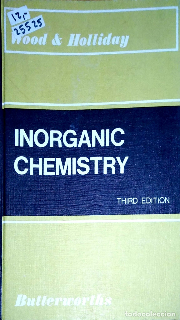Libros: 25525 - INORGANIC CHEMISTRY - IDIOMA INGLES THIRD EDITION - WOOD & HOLLIDAY - EN INGLES - Foto 1 - 179160085
