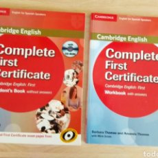 Libros: COMPLETE FIRST CERTIFICATE. CAMBRIDGE. Lote 179515247