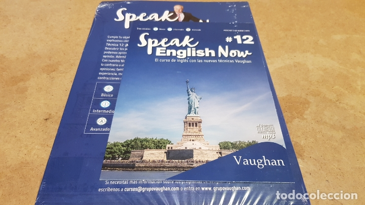 Libros: SPEAK ENGLISH NOW BY VAUGHAN / Nº 12 / LIBRO + CD & MP3 / LAS NUEVAS TÉCNICAS VAUGHAN / PRECINTADO. - Foto 2 - 182686012