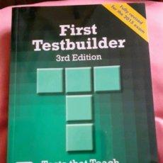 Libros: FIRST TESTBUILDER 3RD EDITION MACMILLAN. Lote 183079103