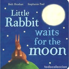 Libros: LITTLE RABBIT WAITS FOR THE MOON TAPA Y HOJAS DE CARTÓN MARAVILLOSAMENTE ILUSTRADO.. Lote 183517151
