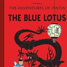 Libros: THE BLUE LOTUS (THE ADVENTURES OF TINTIN) HERGE HARD COVER COMIC. Lote 183673536