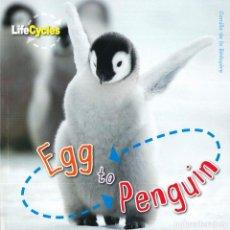 Libros: EGG TO PENGUIN TAPA FLEXIBLE. Lote 184365606