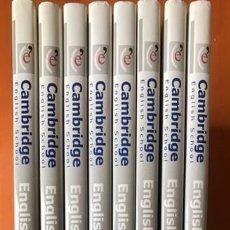 Libros: CURSO COMPLETO 8 TOMOS ENGLISH PROGRAMME GRAMMAR CAMBRIDGE ENGLISH SCHOOL - PRECINTADO. Lote 196908463