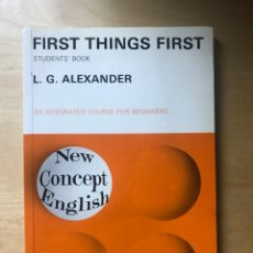 Livres: FIRST THINGS FIRST - STUDENT'S BOOK - L.G. ALEXANDER. Lote 203197361