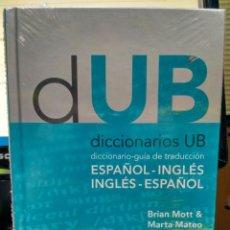 Libros: DICCIONARIO - GUÍA DE TRADUCCIÓN ESPAÑOL-INGLÉS, INGLÉS-ESPAÑOL. U. BARCELONA 9788447534036. Lote 207644795