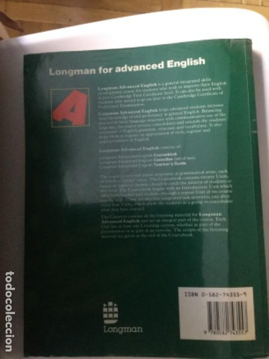 Libros: Longman Advanced English. Edición 1986; 208 páginas - Foto 2 - 208009972