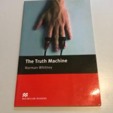 Libros: THE TRUTH MACHINE - NORMAN WHITNEY. Lote 209821710