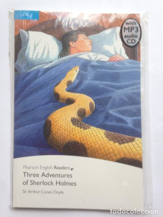 THREE ADVENTURES OF SHERLOCK HOLMES - SIR ARTHUR CONAN DOYLE - PEARSON ENGLISH READERS - WITH MP3 CD (Libros Nuevos - Idiomas - Inglés)