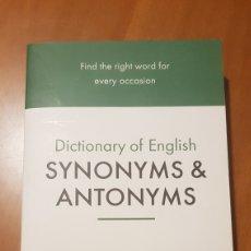 Libros: SINÓNIMOS Y ANTÓNIMOS, INGLÉS.. Lote 217167211