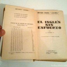 Libros: EL INGLÉS SIN ESFUERZO. CHÉREL. Lote 224145770