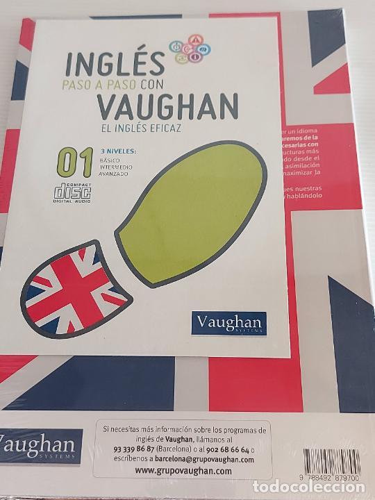 Libros: INGLÉS PASO A PASO CON VAUGHAN / 1 / EL INGLÉS EFICAZ / LIBRO + CD / PRECINTADO. - Foto 2 - 228579638