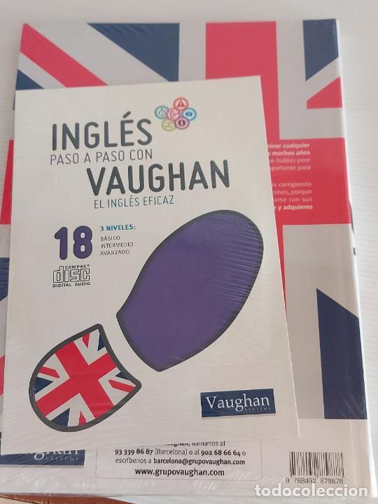 Libros: INGLÉS PASO A PASO CON VAUGHAN / 18 / EL INGLÉS EFICAZ / LIBRO + CD / PRECINTADO. - Foto 2 - 228579920