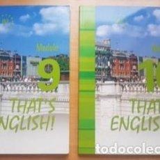 Livros: THAT'S ENGLISH! CURSO AVANZADO I. MODULOS 9 Y 10. Lote 228682703
