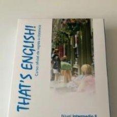 Libros: THAT'S ENGLISH! CURSO INTERMEDIO II. MOD. 7 Y 8 CON VIDEOS Y AUDIO. Lote 288132033