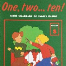 Libros: ONE, TWO...TEN. N*8. CUADERNO DE TRABAJO. NUEVO. Lote 240825600