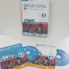 Libros: MÉTODO INGLÉS TOTAL. INCLUYE TRES NIVELES: DVD, CD, CURSO ON LINE. Lote 247340030