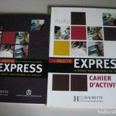 Libros: 2 LIBROS A1/A2 *LE MONDE PROFESSIONNEL EN FRANÇAIS EXPRESS *. Lote 254585635