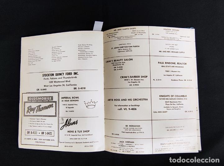 Libros: VOYAGER 1962 - ANUARIO ST. BERNARD HIGH SCHOOL - PLAYA DEL REY - - Foto 28 - 286240378