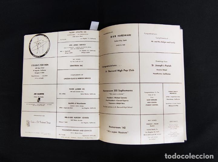 Libros: VOYAGER 1962 - ANUARIO ST. BERNARD HIGH SCHOOL - PLAYA DEL REY - - Foto 29 - 286240378