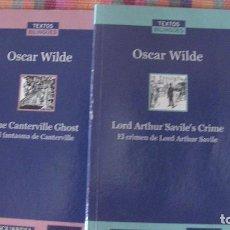 Libros: -EDICION BILINGUE- OSCAR WILDE.LA VANGUARDIA 2007 (2 LIBROS). Lote 292153008