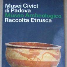 Livres: MUSEI CIVICI DI PADOVA. MUSEO ARCHEOLOGICO.RACCOLTA ETRUSCA (ITALIA). Lote 14166830