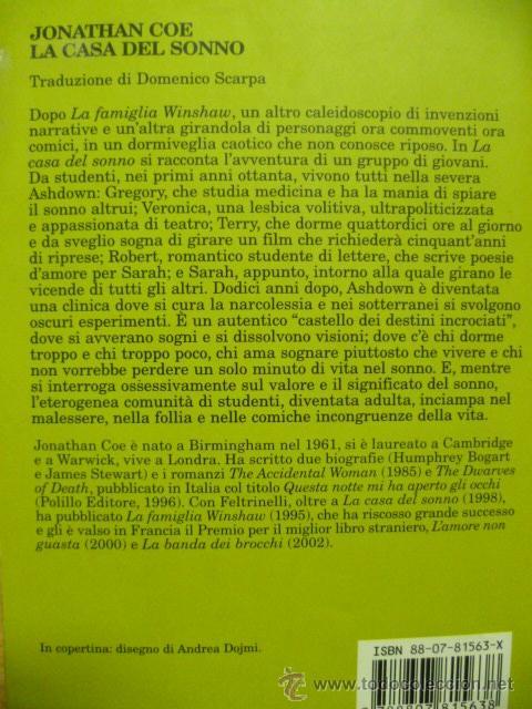 Libros: La Casa del Sonno - Jonathan Coe - 2002 (en italiano) - Foto 6 - 39336274