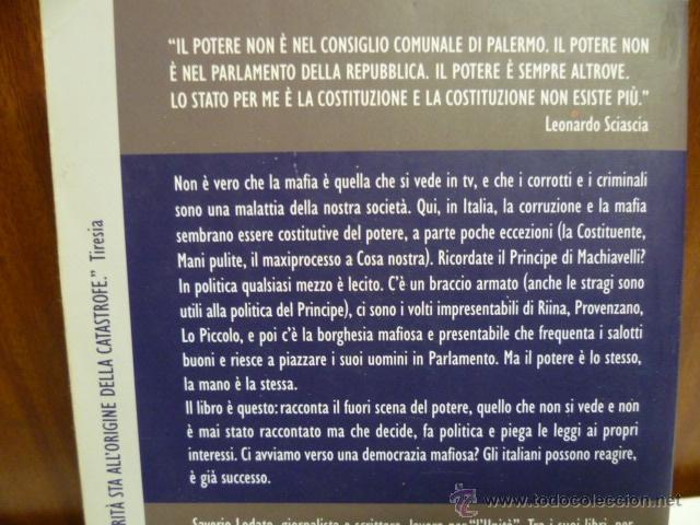 Libros: Il ritorno del principe, Saverio Lodato - Roberto Scarpinato (en italiano) 2008 - 347 pag. - Foto 3 - 40410243